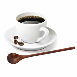 Natural Kitchen Wooden Spoon Cooking Utensil Tool Wood Coff pols Soup C5Z4 $2.17