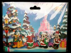 Disney Christmas Noel Booster Set of 4 Pins - Mickey & Minnie Mouse Pluto Goofy $18.95