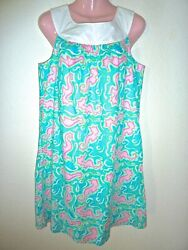 NWT $158 Lilly Pulitzer Lock Me Up Seahorse Print Adrianna Dress 8 10