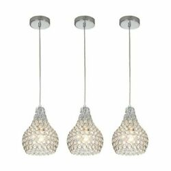 Modern Crystal Chandeliers 3PCS Ceiling Pendant Light Fixture For Dinner Room $55.99