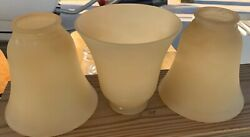 6 GOLD TINT GLASS GLOBES SHADES CEILING FAN LIGHTING $25.00