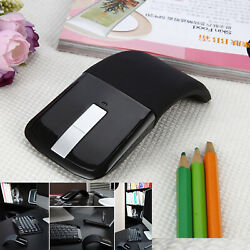 Universal Wireless Mouse Optical Ultrathin Foldable Arc Touch Mice Replacement $15.79