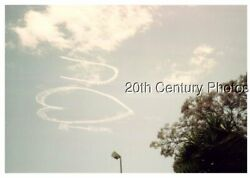 FOUND COLOR PHOTO F_5194 VIEW OF I HEART U IN THE SKY $6.98