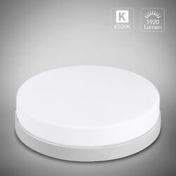 36W Bright Round LED Ceiling Down Light Panel Wall Bathroom Kitchen Office Lamp