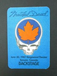 Grateful Dead Backstage Pass Kingswood Music Theater Toronto XCON (63087)