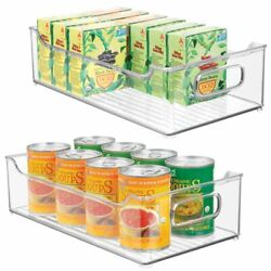 mDesign Plastic Kitchen Pantry Cabinet Food Storage Bin 2 Pack Clear $25.99