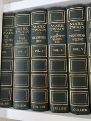 Mark Twain's Works  Collier 1917-1923 Cloth Bindings SHARP!