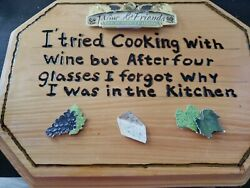 Funny Cooking amp; Wine Kitchen Decor Plaque $3.00