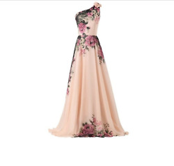 Long Chiffon Floral Formal Party Ball Gown Prom Bridesmaid Dress Grace Karin 18W