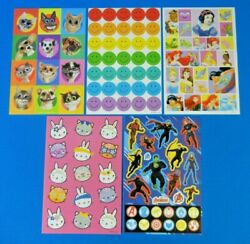 Kids Stickers *You Choose Twisted Whiskers Avengers Smiley#x27;s Bunny Cats Princess $0.99