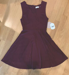 NWT Altar'd State Sleeveless Fit amp; Flare Burgundy Dress Size Small $25.00