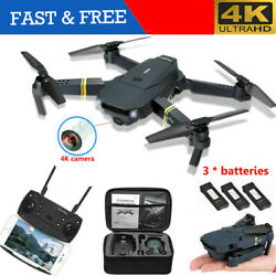 4K Mini Drone Selfie WIFI FPV With HD Camera Foldable Arm RC Quadcopter Toy Gift $46.99