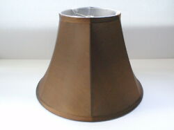 METALLIC COPPER Deep Empire Table Lamp Shade Fabric Bell Cover Finial Model $9.95