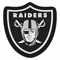 Black Oakland Raiders Mascot Non Slip Indoor Floor Only Door Mat Entrance Carpet $86.81
