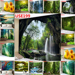 US Ship Forest Sunshine Tapestry Wall Hanging Art Tapestries Hippie Home Decor $14.69
