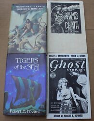 Robert E. Howard Tigers of the Sea Worms Earth Ghost Stories Rhymes Death 1st Ed $150.00