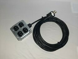 Quad Stage Power Box With 25#x27; Cable $29.99