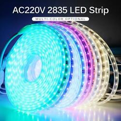 LED Strip 2835 SMD Dimmable AC 220V IP67 Waterproof Commercial Rope TUBE Light