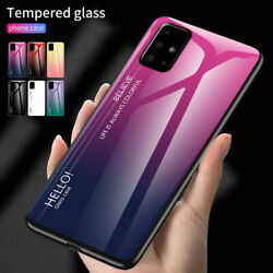 For Samsung S20 FE 5G S21 Ultra A21S A11 A51 A71 Case Tempered Glass Hard Cover $10.24