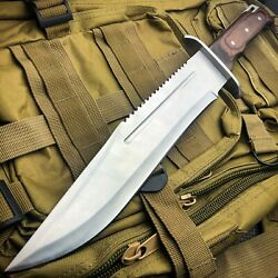 16quot; Full Tang TACTICAL Hunting Rambo Fixed Blade Camping Bowie Knife w Sheath $22.95