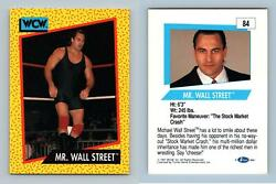 Mr. Wall Street #84 WCW 1991 Impel Wrestling Trading Card GBP 0.99