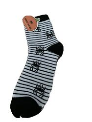 Web Spiderweb Spooky Halloween Novelty Socks Women Men Adults White Black $6.49