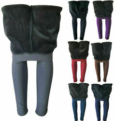 Women Winter Extra Thick Fleece Fur Lined Thermal High Waisted Leggings Pants $16.99