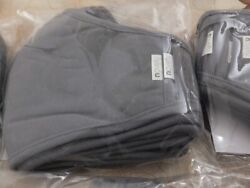 5 Pack Fabric Face Masks 3 layers Reusable Washable Gray Black Navy 65%Poly $11.83