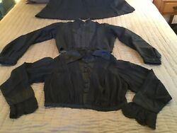 Antique Victorian Womans 3 Piece Clothing Skirt And 2 Blouses $80.00
