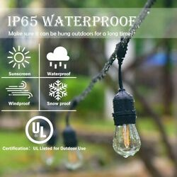 96 FT LED Outdoor Waterproof Commercial String Lights Bulbs FREE SHIPING