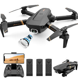 4DRC V4 Quadcopter Drone With HD Camera Selfie WiFi FPV Foldable RC 3 Batteries $68.60
