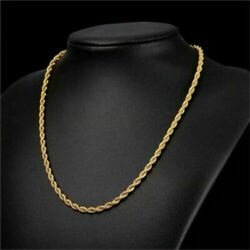 18K Solid Gold Rope Chain Necklace Men Women 10quot; 16quot; 18quot; 20quot; 22quot; 24quot; 26quot; 28quot; 30quot; $174.99
