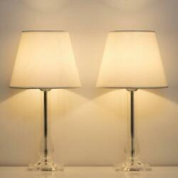 Set of 2 Modern Table Lamps Bedside Lamps Nightstand Lamps with Acrylic Base $40.99