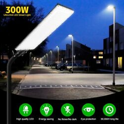 Outdoor Commercial 300W LED Street Light IP67 Ultra bright Flood Lamp 110V