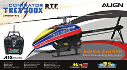 RC Helicopter RTF With A10 Transmitter T Rex 300X DOMINATOR DFC 6CH 3D NEW $822.00