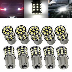 10x Very Bright White 1156 RV Trailer 33 SMD LED 1141 Interior Light Bulbs Lamps $10.99