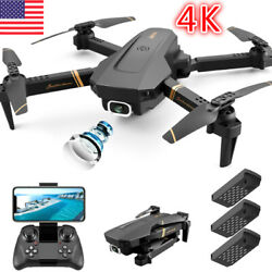 Best RC Mini Foldable Drone with Live WIFI FPV 4K HD Camera Selfie Optical Flow $60.05