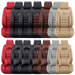 Luxury Leather Car Seat Covers Front Rear Full Set Cushion Protector Universal $74.99