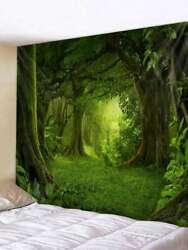 Psychedlic Forest Tapestry Room Wall Hanging Hippie Tapestry Home Decor US Ship $12.75
