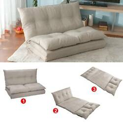 Beige Adjustable Fabric Folding Chaise Lounge Sofa Chair Floor Couch $265.00