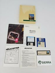 Helicopter Simulator PC Big Box Computer Game Complete Vintage CIB Floppy Disk $46.43