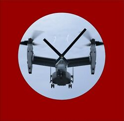 Cool Bell Boeing V 22 Osprey Helicopter Wall Clock $23.20