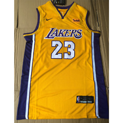 Lebron James Los Angeles Lakers #23 Gold Jersey $40.99