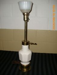 Stiffel Torchiere Table Lamp Brass amp; Porcelain Vase Body....Nice $119.99