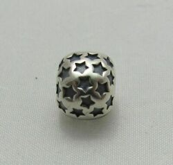 Authentic Pandora ALE Sterling Silver Jewelry Star Clip Charm 790851 $29.95