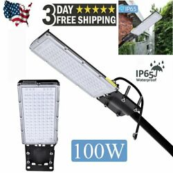 9000LM LED Street Light 100W Outdoor Commercial IP67 Garden Yard Road Lamp 110V