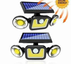 Wall Lamps Solar Garden Front Doors Dimmable LED Spotlight Sensor House Security $57.59