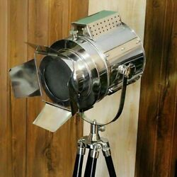 Antique Office Decor Nautical Industrial Spot Light Floor Lamp With Tripod Stand $149.99