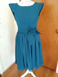 For Her And For Him Teal Chiffon Occasion Dress 🎉 Party Wedding Nwt Size 8 $24.99