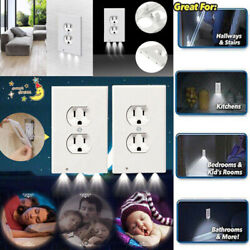 5 10x Duplex Wall Outlet Cover Plate LED Night Light With Ambient Light Sensor $23.99